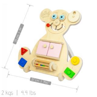 Beloved boards Vzdělávací medvídek Busy Board - Mini Bear - Růžový