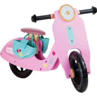 Small Foot Dřevěné odrážedlo růžová motorka