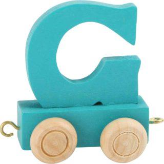 Dřevěný vláček barevná abeceda písmeno G Dřevěný vláček barevná abeceda písmeno G