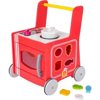 Small Foot Dřevěný vozíček kuchyňka červená