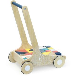 Vilac Dřevěný vozík s barevnými kostkami Canopée