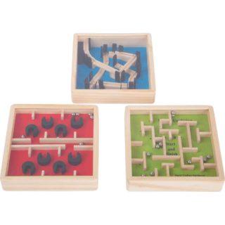 Displej - Dřevěný barevný kuličkový labyrint 1 ks