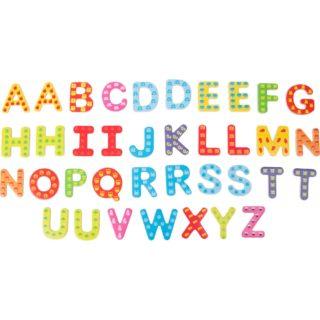 Small Foot Dřevěné barevné magnetické písmenka 37 ks