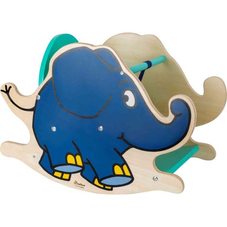 Small Foot Dřevěný houpací slon