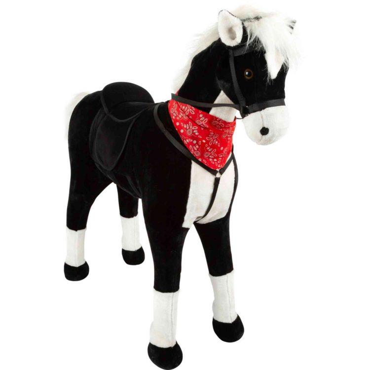 Small Foot Sedací kůň XL černý se zvukem