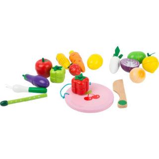 Small Foot Dřevěný set ovoce a zelenina na suchý zip