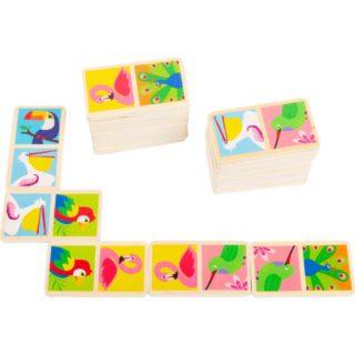 Small Foot Dřevěné domino ptáčci světa