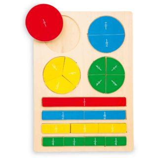 Small Foot  Školní pomůcky dřevěné puzzle zlomky