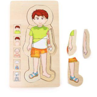 Small Foot Dřevěné hračky puzzle anatomie Tim