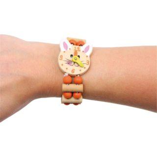Small Foot Dřevěný barevný náramek hodinky 1 ks