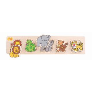 Bigjigs Baby Dřevěné vkládací puzzle safari
