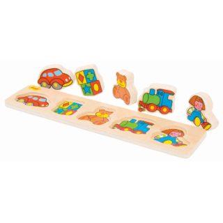 Bigjigs Baby Dřevěné vkládací puzzle hračky