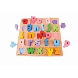 Bigjigs Baby Dřevěné puzzle Abeceda malá písmena