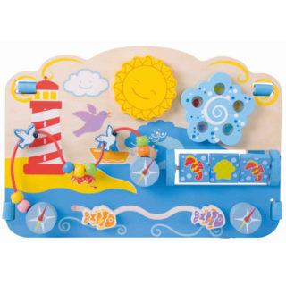 Bigjigs Baby Dřevěná motorická deska moře