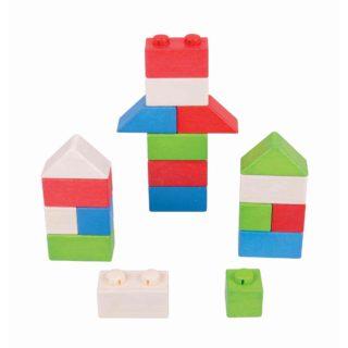 Bigjigs Baby Dřevěné Spojkostky - Primary set