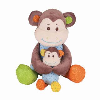 Bigjigs Baby Textilní postavička opička Cheeky velká