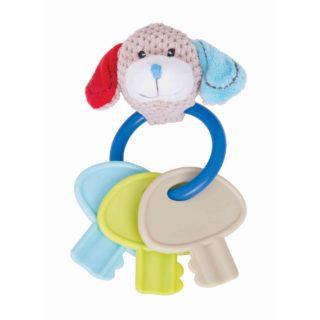 Bigjigs Baby Chrastítko kroužek s klíči pejsek Bruno