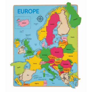 Bigjigs Toys Dřevěné puzzle mapa Evropy 25dílků