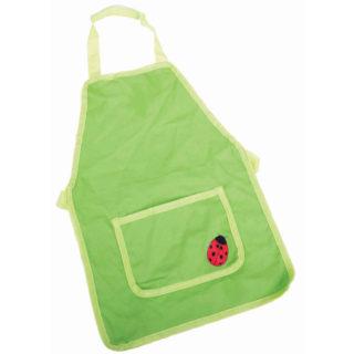 Bigjigs Toys Zahradní zástěra zelená s beruškou