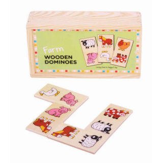 Bigjigs Toys Dřevěné domino farma