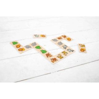 Bigjigs Toys Dřevěné domino safari