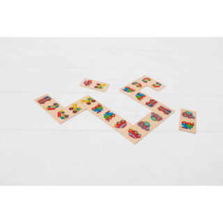 Bigjigs Toys Dřevěné domino dopravní prostředky