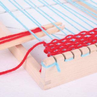 Bigjigs Toys Dřevěný tkalcovský stav