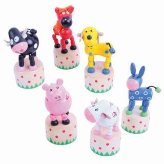 Bigjigs Toys Dřevěná mačkací zvířátka 1ks