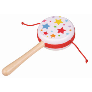 Bigjigs Toys Dřevěný rotační bubínek hvězdičky 1 ks
