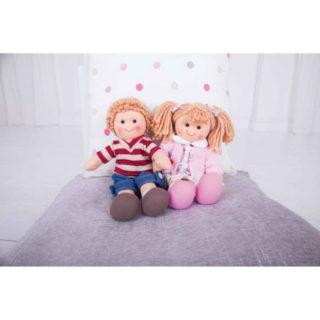 Bigjigs Toys Látková panenka Harry 28 cm