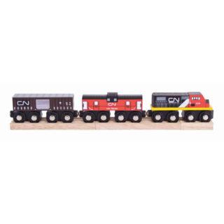 Bigjigs Rall CN nákladní vlak + koleje