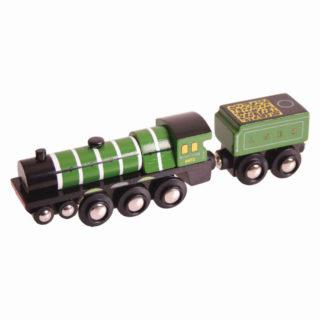 Bigjigs Rail Dřevěná replika lokomotiva Flying Scotsman