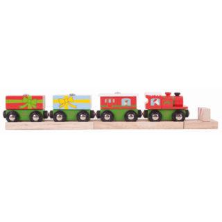 Bigjigs Rail Vánoční vláček + 3 koleje