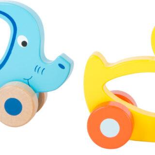 Dřevěná jezdící zvířátka do ruky myš Dřevěná jezdící zvířátka do ruky myš