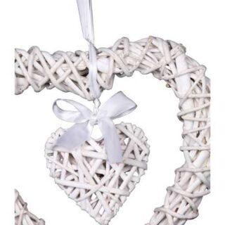 Small Foot Bytové dekorace proutěné srdce Michele