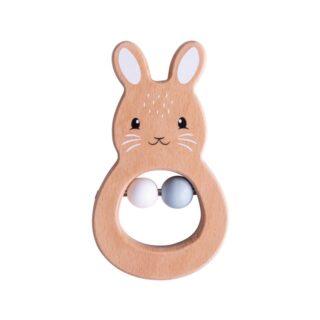 Bigjigs Baby Dřevěné chrastítko králíček