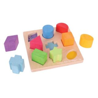 Bigjigs Baby Dřevěné kostky tvary a barvy