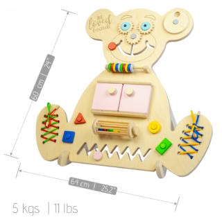 Vzdělávací medvídek Busy Board - Bear