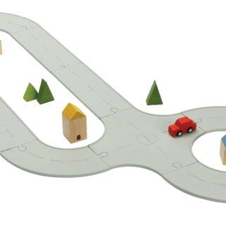 PlanToys Gumová auto/vláčkodráha